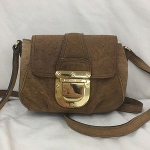 Michael Kors Brown Leather Crossbody Satchel Bag